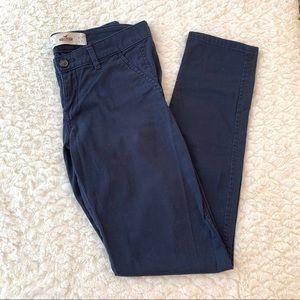 Hollister Juniors 0 Navy Khaki Pants